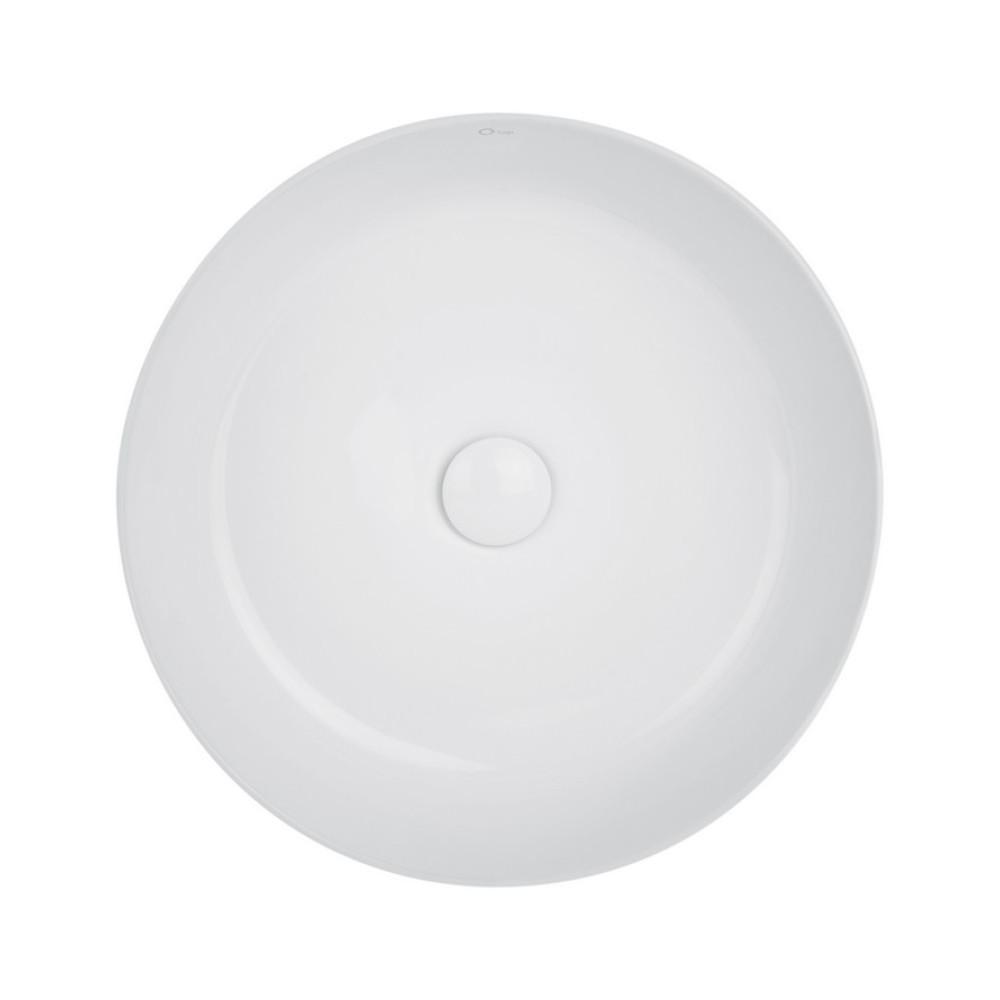 Раковина-чаша Qtap Kalao 440х440х140 White с донным клапаном QT0811K462W