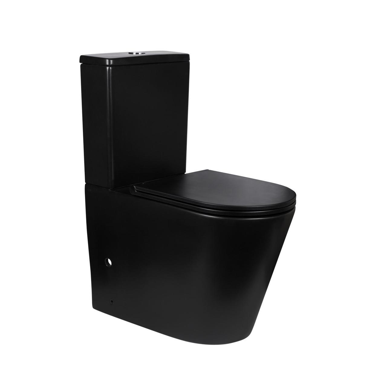 Унітаз-компакт Qtap Scorpio безободковый з сидінням Soft-close QT14222125ARMB