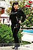 Спортивный костюм большого размера Ferrari черный