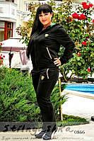 Спортивный костюм большого размера Ferrari черный, фото 1