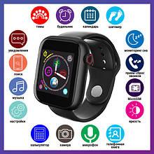 Смарт годинник Розумні годинник Smart Watch Z6S з сенсорним екраном і пульсометром чорні + ПОДАРУНОК