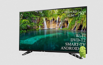 "ТЕЛЕВИЗОР TOSHIBA 50"" Smart-TV ULTRA HD T2 USB Android 7.0 Гарантия 1 ГОД"