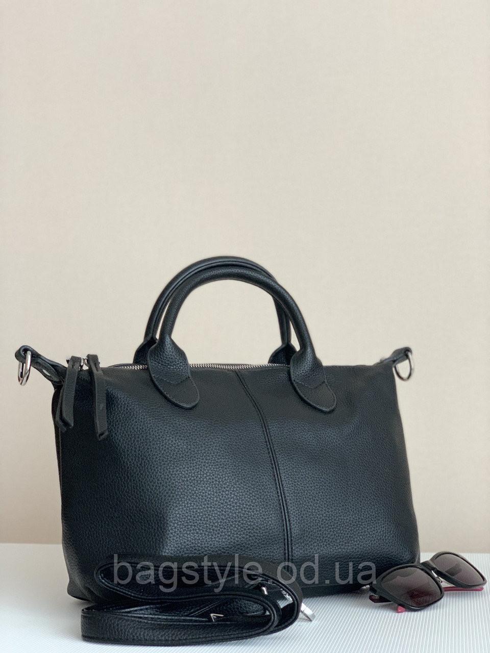 Жіноча чорна матова сумка повсякденна класична
