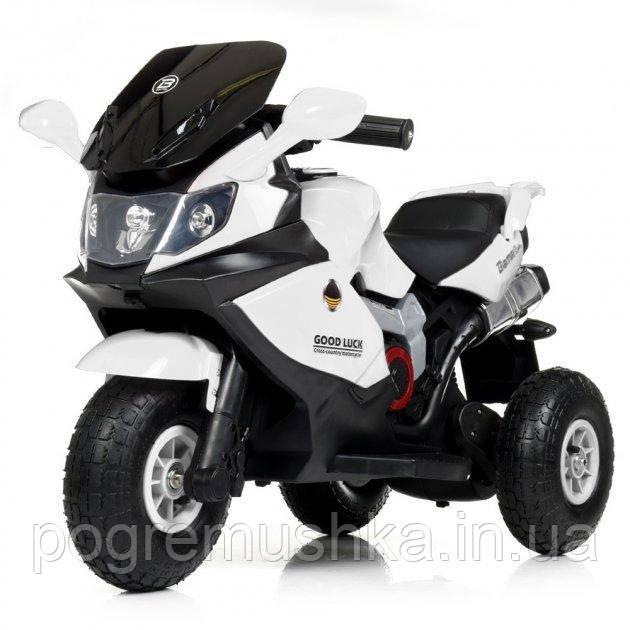 Детский мотоцикл «BMW» M 4189AL-1 Белый (MP3 магнитола, свет, надувные колеса)