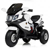 Детский мотоцикл «BMW» M 4189AL-1 Белый (MP3 магнитола, свет, надувные колеса), фото 1