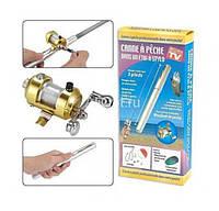 Набор карманная мини удочка Fishing Rod в форме ручки с катушкой