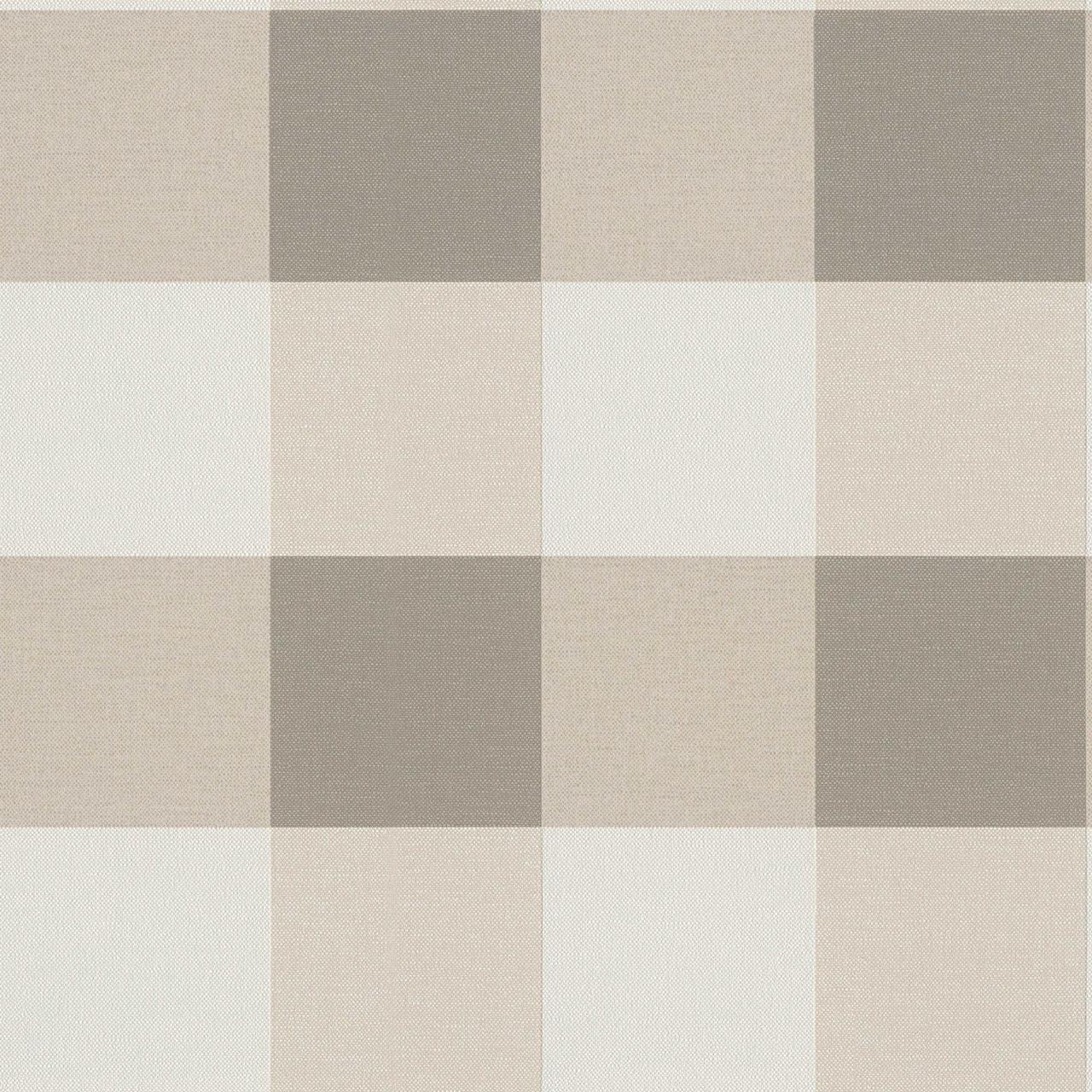 Німецькі вінілові шпалери ретро 206336 у велику світлу і темно-бежеву клітку. структура тканини та текстиль