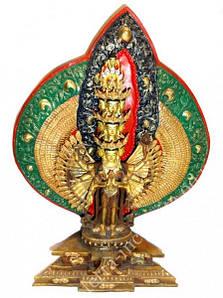 9070124 Статуэтка с позолотой Непал Авалокитешвара + 9070045 Статуэтка бронзовая Шива Натарадж