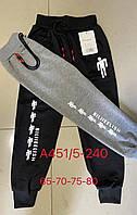 Детские спортивные штаны на манжетахдля мальчика BE размер 5-10 лет, цвета миксом