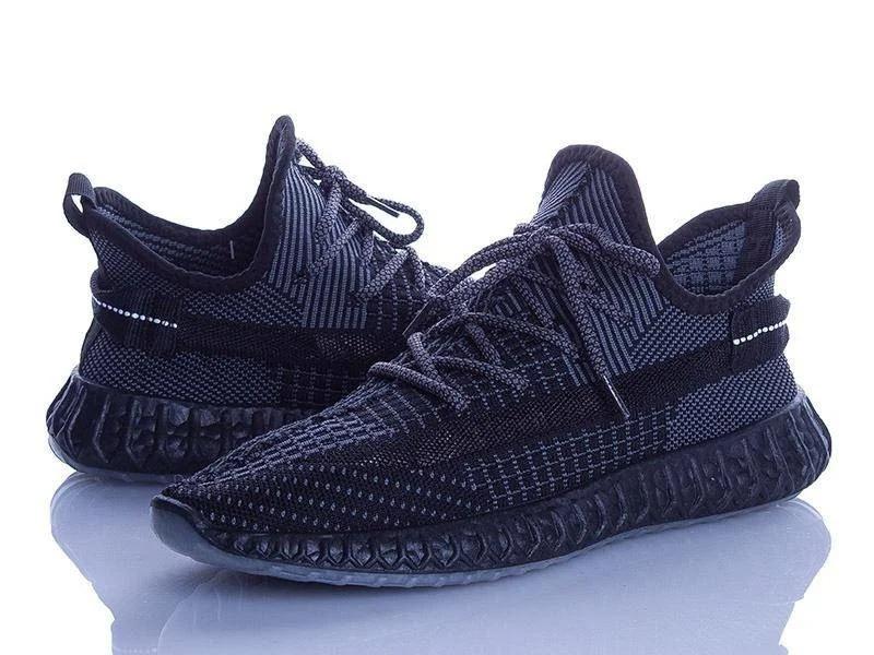 Чоловічі чорні кросівки изики