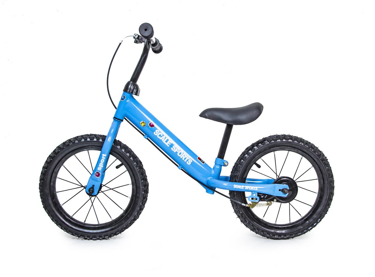 Беговел Велобег 14Д Scale Sports Синий цвет