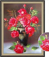 Картина для рисования стразами Diamond painting Алмазная вышивка алмазами мозаика розы