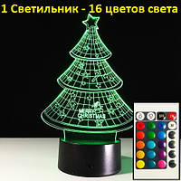 """3Д Ночник, """"Ёлка"""", Новогодний подарок для детей, Прикольные подарки на новый год, Новогодние подарки"""