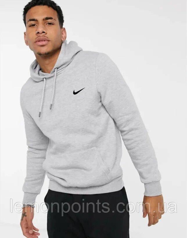 Мужская спортивная толстовка, худи, кенгурушка Nike (Найк) Серый