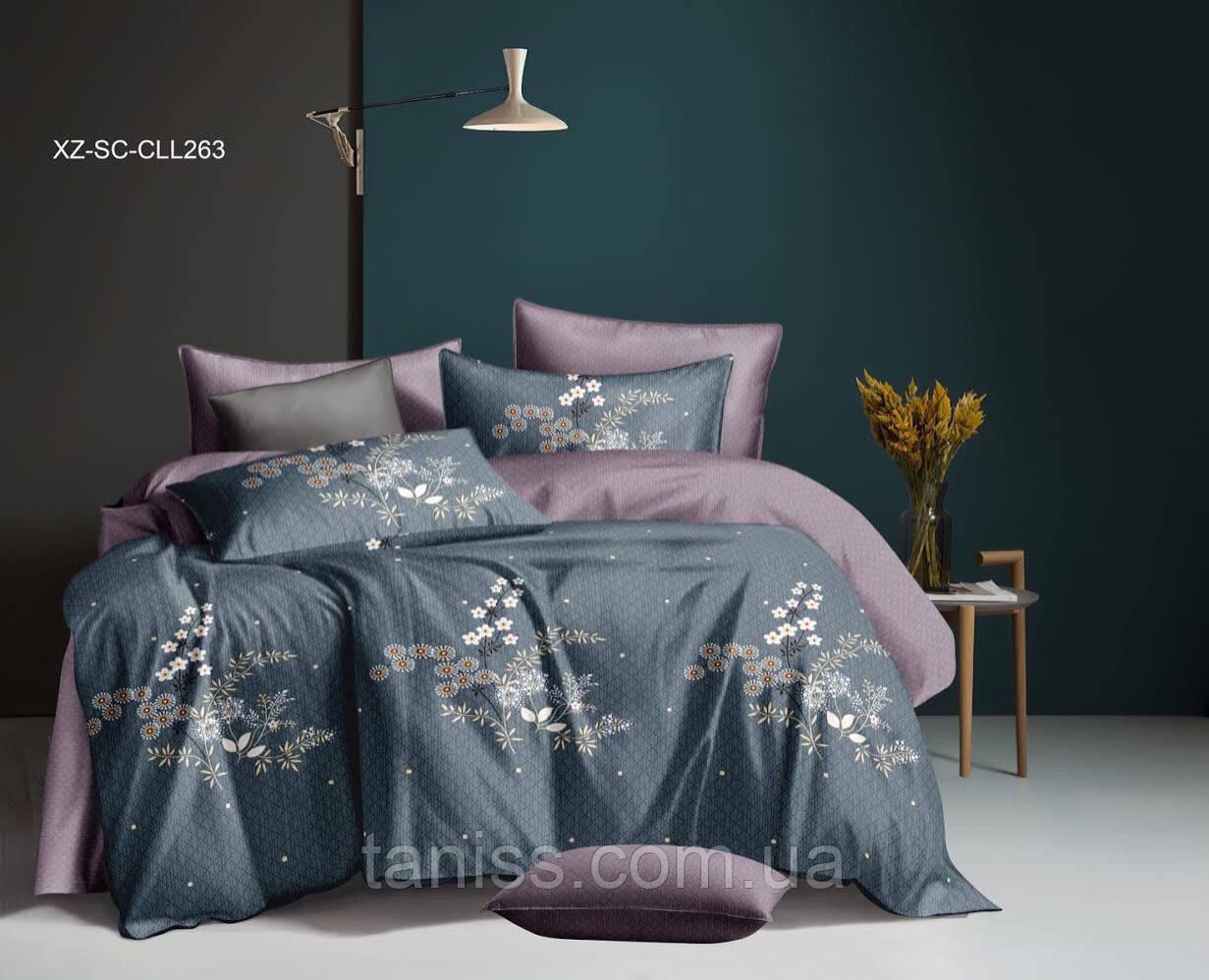 Двухспальный набор постельного белья Бязь Голд, расцветка как на фото,веточки