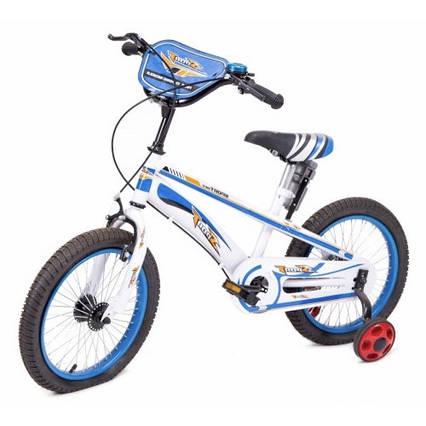 Дитячий велосипед з додатковими колесами для хлопчика 3-7 років 16 дюймів Sport Блакитний (16-TZ-001)