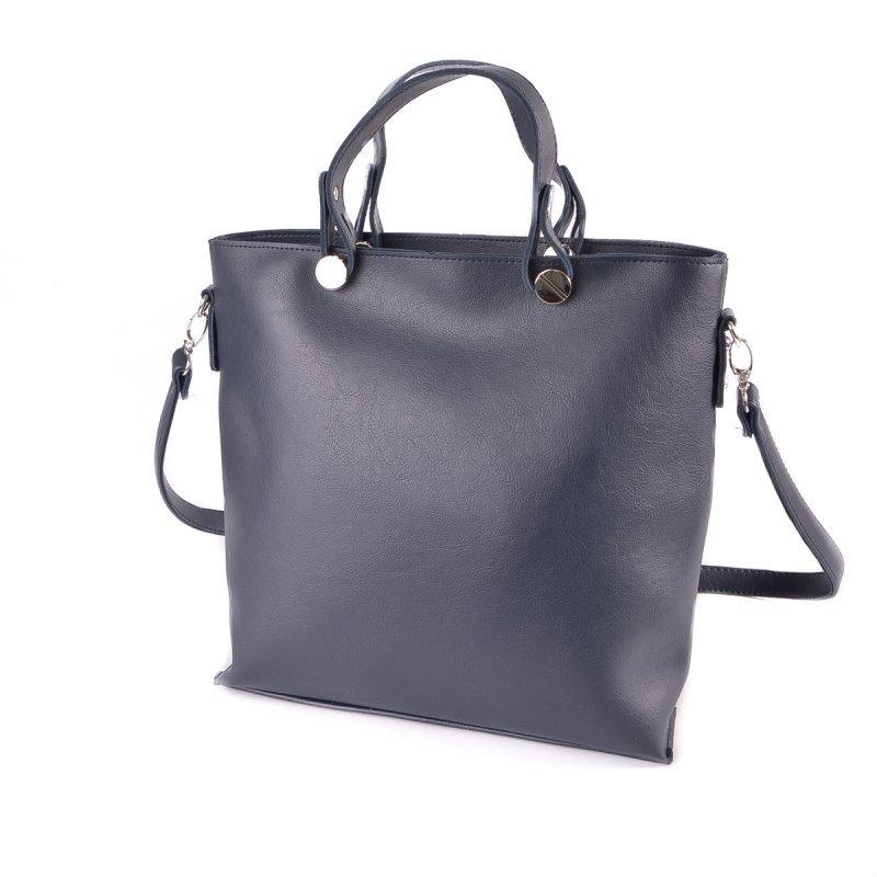 Стильна жіноча синя сумочка повсякденна моложеная ділова прямокутна сумка для ділових леді сувора