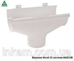 Воронка водосточная Nicoll 170/100мм компенсирующая, белая