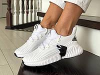 Модные летние кроссовки Adidas, белые