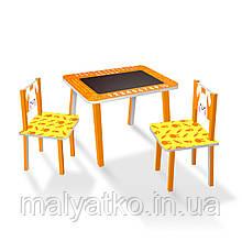 Набір дитячих меблів (столик з крейдяної поверхнею + 2 стільчика) арт. C024