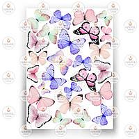 Печать съедобного фото - Бабочки №5