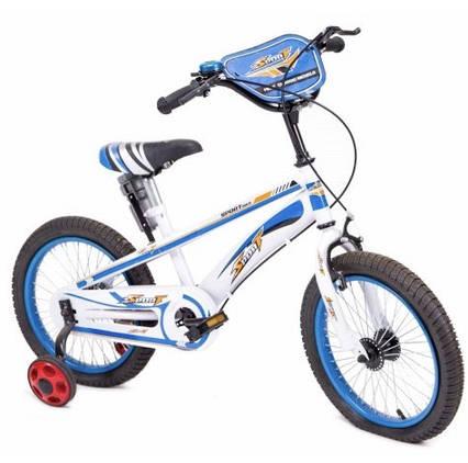 Дитячий велосипед 16 дюймів з додатковими колесами для хлопчика 3-7 років Sport Блакитний (16-TZ-001-MH)