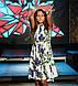Платье Nadine с юбкой солнце клёш 146 см белое с цветочным принтом, фото 6