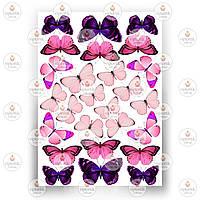 Печать съедобного фото - Бабочки №8
