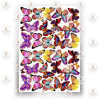 Печать съедобного фото - Бабочки №9