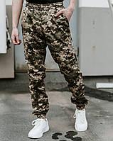 Камуфляжные мужские штаны карго Nike на манжетах из плащевки весна-осень (реплика)