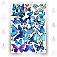 Печать съедобного фото - Бабочки №3
