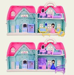 Кукольный дом с мебелью и фигурками, (2 вида)