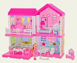 Кукольный дом 2 этажа (мебель, куколка), Pretty Doll House