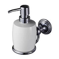 Дозатор для моющего средства настенный HACEKA Allure 1126182 хром 200мл керамика 83292