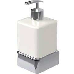 Дозатор для моющего средства настенный HACEKA Aline P 1194615 хром 200мл керамика 91611