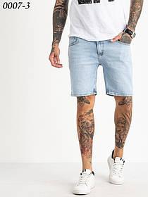 Короткі чоловічі джинсові шорти блакитні 1-0007-3