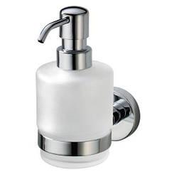 Дозатор для жидкого мыла настенный HACEKA Kosmos 1124417 хром 200мл стекло 93296