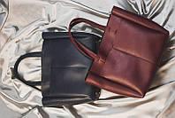 Бордовая женская сумка М223-70 шопер корзина с длинными ручками на плечо, фото 1