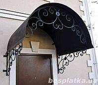 Козырьки металлические поликарбонат