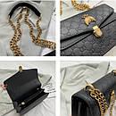 Сумки брендовые женские гуччи на цепочке через плечо с пчелой модные красивые, фото 4