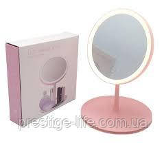 Настольное косметическое зеркало Beauty Breeze Mirror с подсветкой и встроенным вентилятором