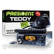 Радиостанция (рация) CB President TEDDY ASC 12V (Автомобильная 27 МГЦ) для дальнобойщиков СИ-БИ