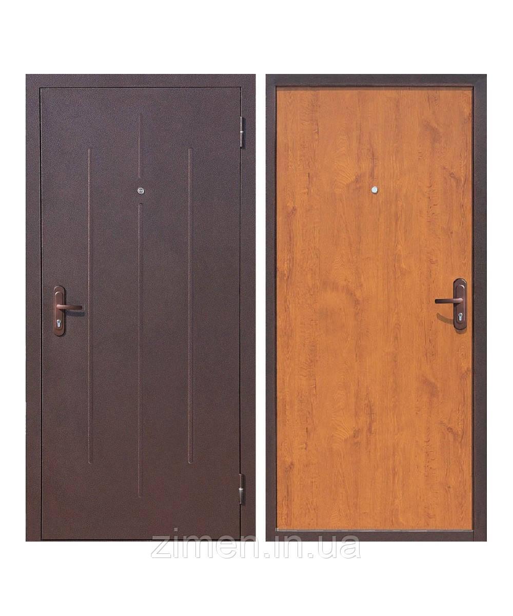 Входная дверь СтройГост 5-1 металл/хдф Золотистый дуб