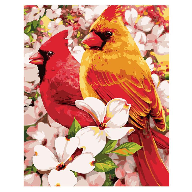 """Картина за номерами """"Птахи в квітах"""" VA-0922, 40 - 50 см"""