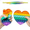 Антистрес сенсорна іграшка Pop It Нескінченна пупырка антистрес Різнобарвний серце, фото 5