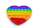 Антистрес сенсорна іграшка Pop It Нескінченна пупырка антистрес Різнобарвний серце, фото 2