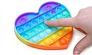 Антистрес сенсорна іграшка Pop It Нескінченна пупырка антистрес Різнобарвний серце, фото 4