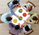 Антистрес сенсорна іграшка Pop It Нескінченна пупырка антистрес Різнобарвний коло, фото 8