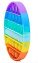 Антистресс сенсорная игрушка Pop It Бесконечная пупырка антистресс  Разноцветный круг, фото 6