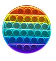 Антистрес сенсорна іграшка Pop It Нескінченна пупырка антистрес Різнобарвний коло, фото 3